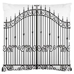 Inspirative Iron Gate Fence Standard Flano Cushion Case (one Side)