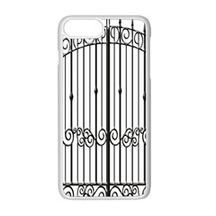 Inspirative Iron Gate Fence Apple Iphone 8 Plus Seamless Case (white)