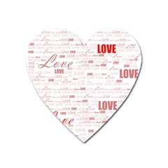 Love Heart Valentine Pink Red Romantic Heart Magnet