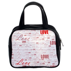 Love Heart Valentine Pink Red Romantic Classic Handbags (2 Sides) by Alisyart