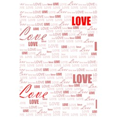 Love Heart Valentine Pink Red Romantic 5 5  X 8 5  Notebooks