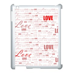 Love Heart Valentine Pink Red Romantic Apple Ipad 3/4 Case (white)