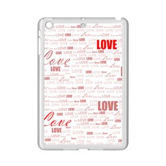 Love Heart Valentine Pink Red Romantic Ipad Mini 2 Enamel Coated Cases