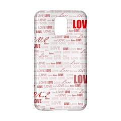 Love Heart Valentine Pink Red Romantic Samsung Galaxy S5 Hardshell Case  by Alisyart