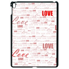 Love Heart Valentine Pink Red Romantic Apple Ipad Pro 9 7   Black Seamless Case by Alisyart