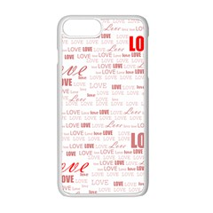 Love Heart Valentine Pink Red Romantic Apple Iphone 8 Plus Seamless Case (white)