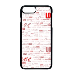 Love Heart Valentine Pink Red Romantic Apple Iphone 8 Plus Seamless Case (black) by Alisyart