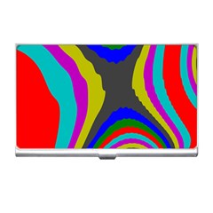 Pattern Rainbow Colorfull Wave Chevron Waves Business Card Holders