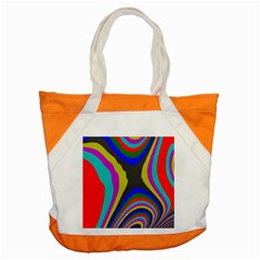 Pattern Rainbow Colorfull Wave Chevron Waves Accent Tote Bag