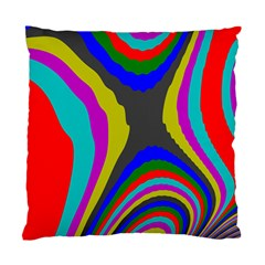 Pattern Rainbow Colorfull Wave Chevron Waves Standard Cushion Case (two Sides)
