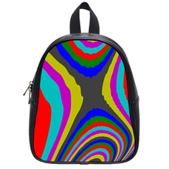 Pattern Rainbow Colorfull Wave Chevron Waves School Bag (small) by Alisyart