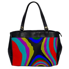 Pattern Rainbow Colorfull Wave Chevron Waves Office Handbags