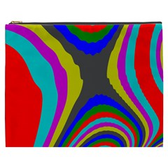 Pattern Rainbow Colorfull Wave Chevron Waves Cosmetic Bag (xxxl)
