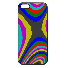 Pattern Rainbow Colorfull Wave Chevron Waves Apple Iphone 5 Seamless Case (black)