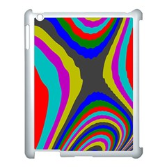 Pattern Rainbow Colorfull Wave Chevron Waves Apple Ipad 3/4 Case (white)