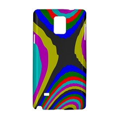 Pattern Rainbow Colorfull Wave Chevron Waves Samsung Galaxy Note 4 Hardshell Case