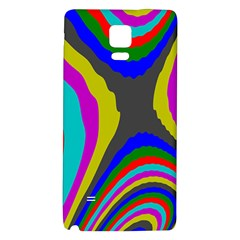 Pattern Rainbow Colorfull Wave Chevron Waves Galaxy Note 4 Back Case