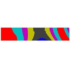 Pattern Rainbow Colorfull Wave Chevron Waves Large Flano Scarf  by Alisyart