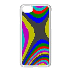 Pattern Rainbow Colorfull Wave Chevron Waves Apple Iphone 8 Seamless Case (white) by Alisyart