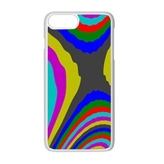 Pattern Rainbow Colorfull Wave Chevron Waves Apple Iphone 8 Plus Seamless Case (white) by Alisyart
