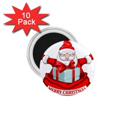 Merry Christmas Santa Claus 1 75  Magnets (10 Pack)  by Alisyart