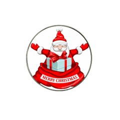 Merry Christmas Santa Claus Hat Clip Ball Marker (10 Pack)
