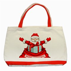 Merry Christmas Santa Claus Classic Tote Bag (red) by Alisyart