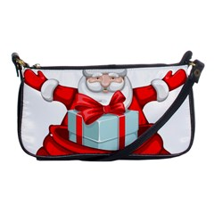 Merry Christmas Santa Claus Shoulder Clutch Bags by Alisyart