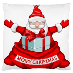 Merry Christmas Santa Claus Large Cushion Case (one Side)