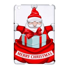 Merry Christmas Santa Claus Apple Ipad Mini Hardshell Case (compatible With Smart Cover)