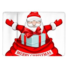 Merry Christmas Santa Claus Samsung Galaxy Tab 10 1  P7500 Flip Case