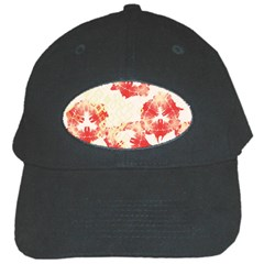 Pattern Flower Red Plaid Green Black Cap