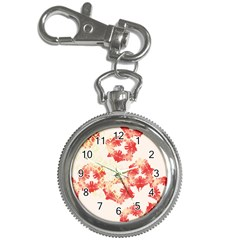 Pattern Flower Red Plaid Green Key Chain Watches