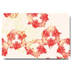 Pattern Flower Red Plaid Green Large Doormat