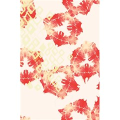 Pattern Flower Red Plaid Green 5 5  X 8 5  Notebooks