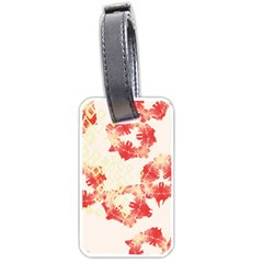Pattern Flower Red Plaid Green Luggage Tags (two Sides) by Alisyart