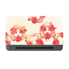 Pattern Flower Red Plaid Green Memory Card Reader With Cf