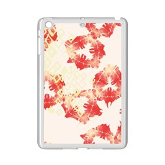 Pattern Flower Red Plaid Green Ipad Mini 2 Enamel Coated Cases