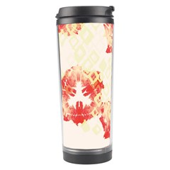 Pattern Flower Red Plaid Green Travel Tumbler by Alisyart