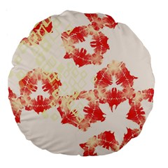 Pattern Flower Red Plaid Green Large 18  Premium Flano Round Cushions by Alisyart