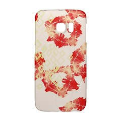 Pattern Flower Red Plaid Green Galaxy S6 Edge