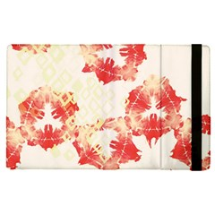 Pattern Flower Red Plaid Green Apple Ipad Pro 12 9   Flip Case