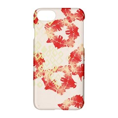Pattern Flower Red Plaid Green Apple Iphone 7 Hardshell Case
