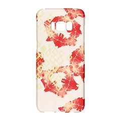 Pattern Flower Red Plaid Green Samsung Galaxy S8 Hardshell Case  by Alisyart