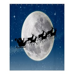 Santa Claus Christmas Fly Moon Night Blue Sky Shower Curtain 60  X 72  (medium)