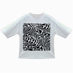 Psychedelic Zebra Pattern Black Infant/toddler T Shirts