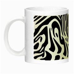 Psychedelic Zebra Pattern Black Night Luminous Mugs by Alisyart