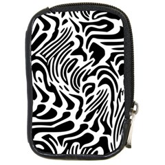 Psychedelic Zebra Pattern Black Compact Camera Cases