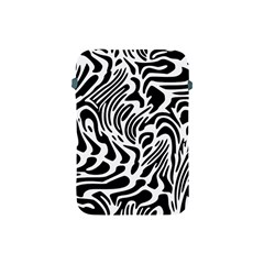 Psychedelic Zebra Pattern Black Apple Ipad Mini Protective Soft Cases by Alisyart