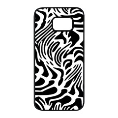 Psychedelic Zebra Pattern Black Samsung Galaxy S7 Edge Black Seamless Case